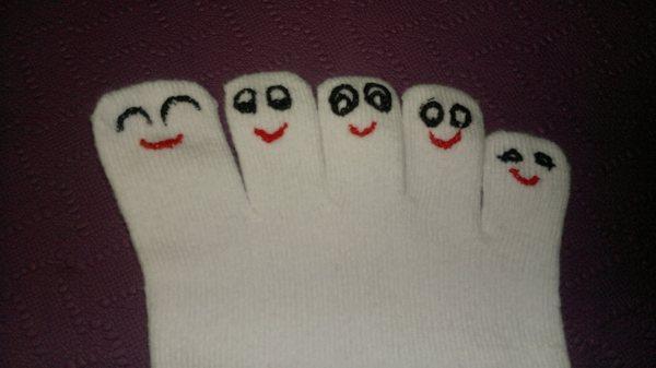 五口之家的微笑