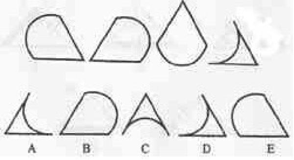 下列图形中哪一个表达了上列图形所表达的顺序?