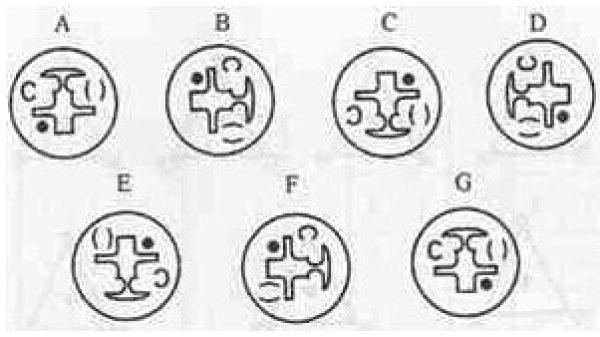 下列图形哪一个不同于其他图形?