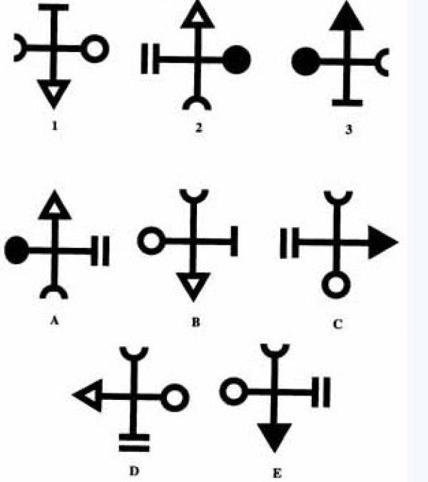 按照前三个图的顺序,第四应是A、B、C、D、E中哪一个图?