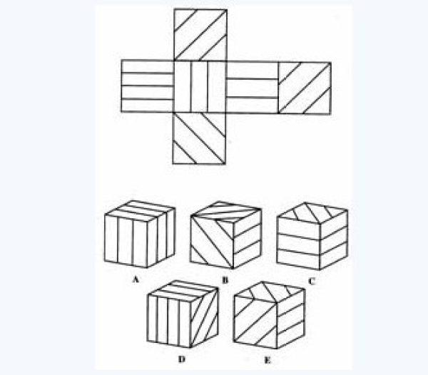 此平面图可形成哪个正方体?